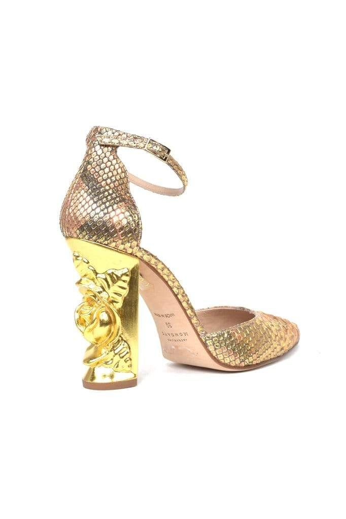 Carbonel Coral & Gold Python Pump - BYTRIBUTE