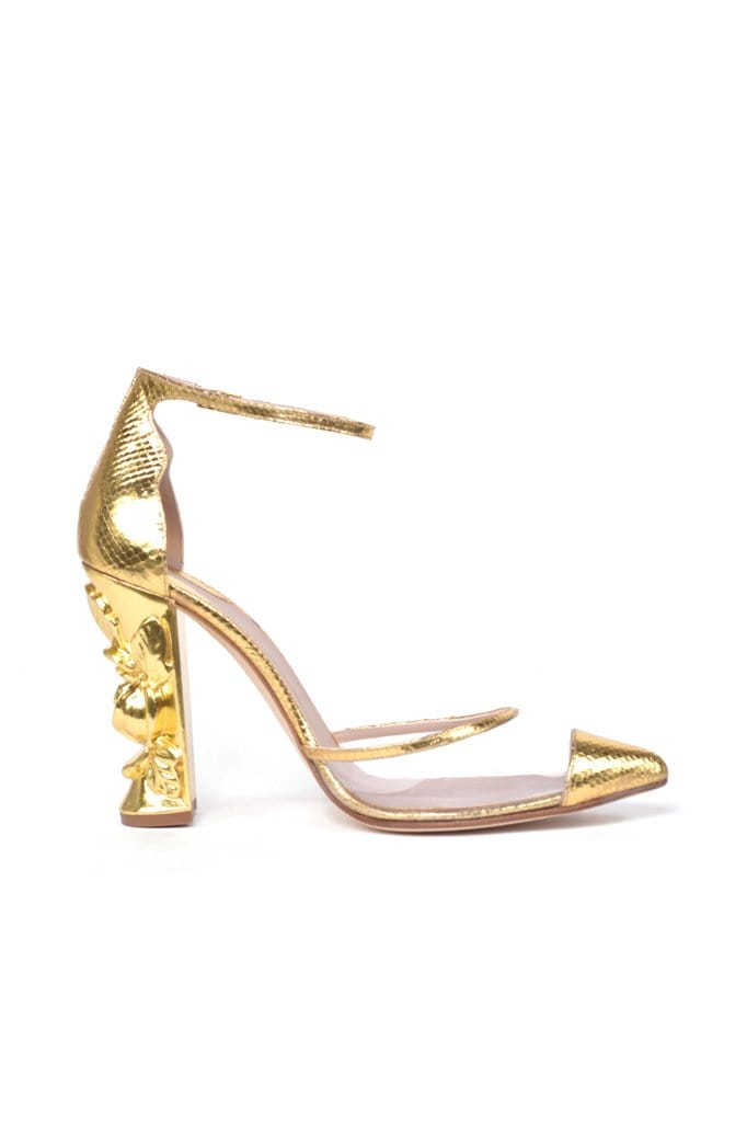 Coello Gold Python Pump - BYTRIBUTE
