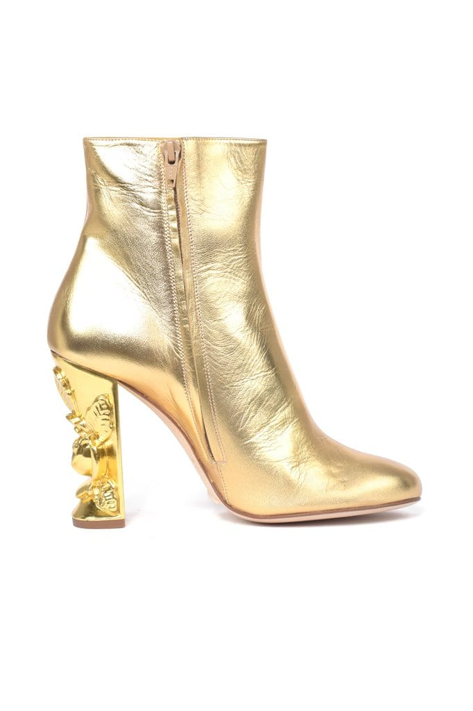 Zurbaran Gold Leather Boots - BYTRIBUTE