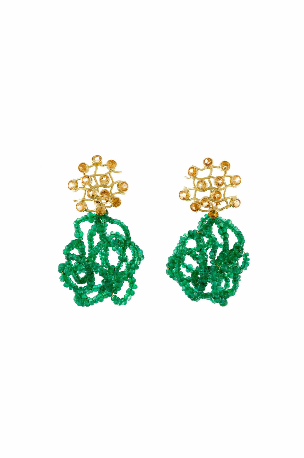 Sapphire And Emerald Earrings - BYTRIBUTE