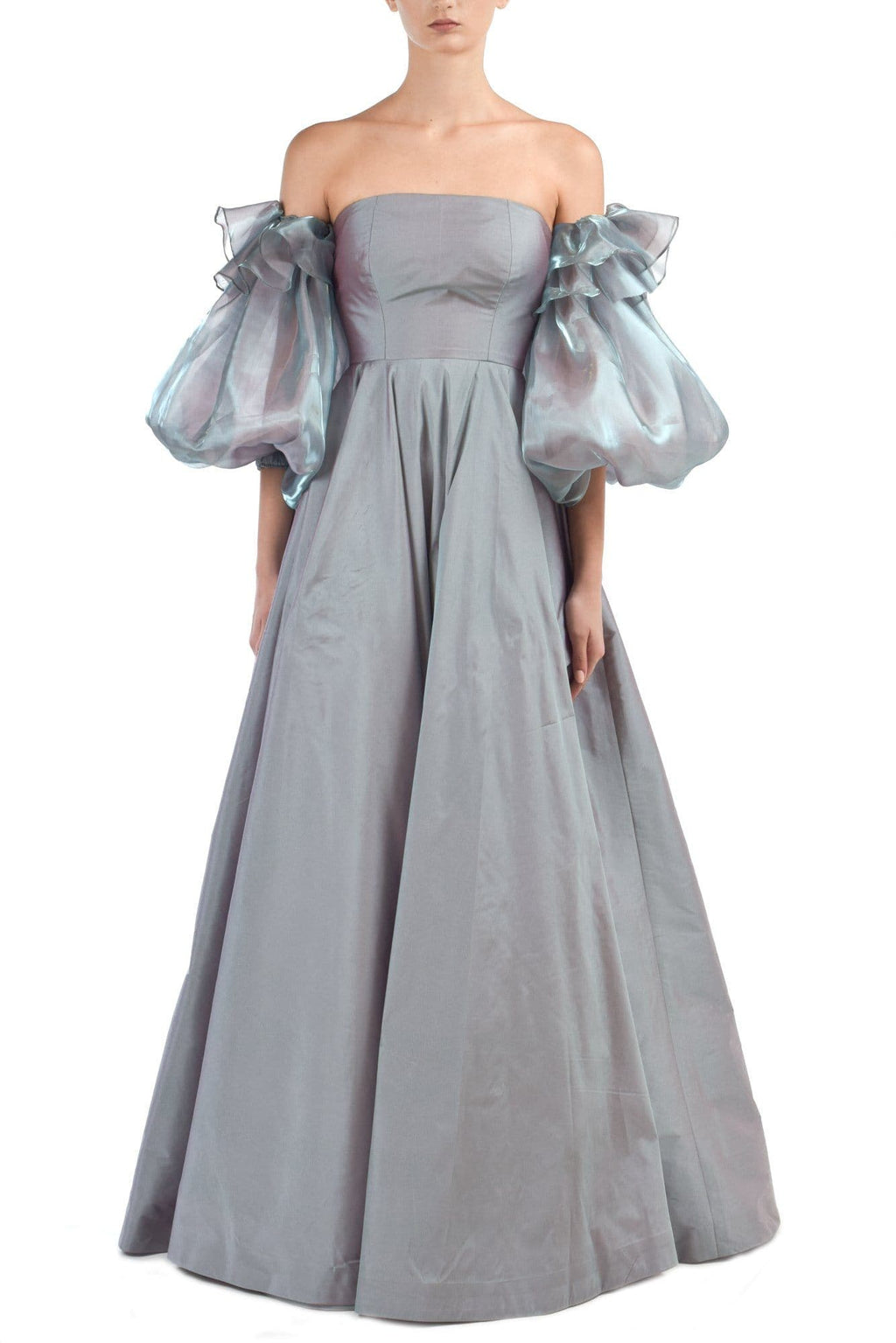Taffeta & Glass Organza Gown - BYTRIBUTE
