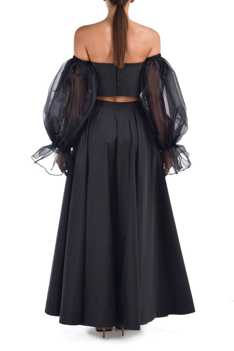 Black Taffeta Skirt Suit - BYTRIBUTE