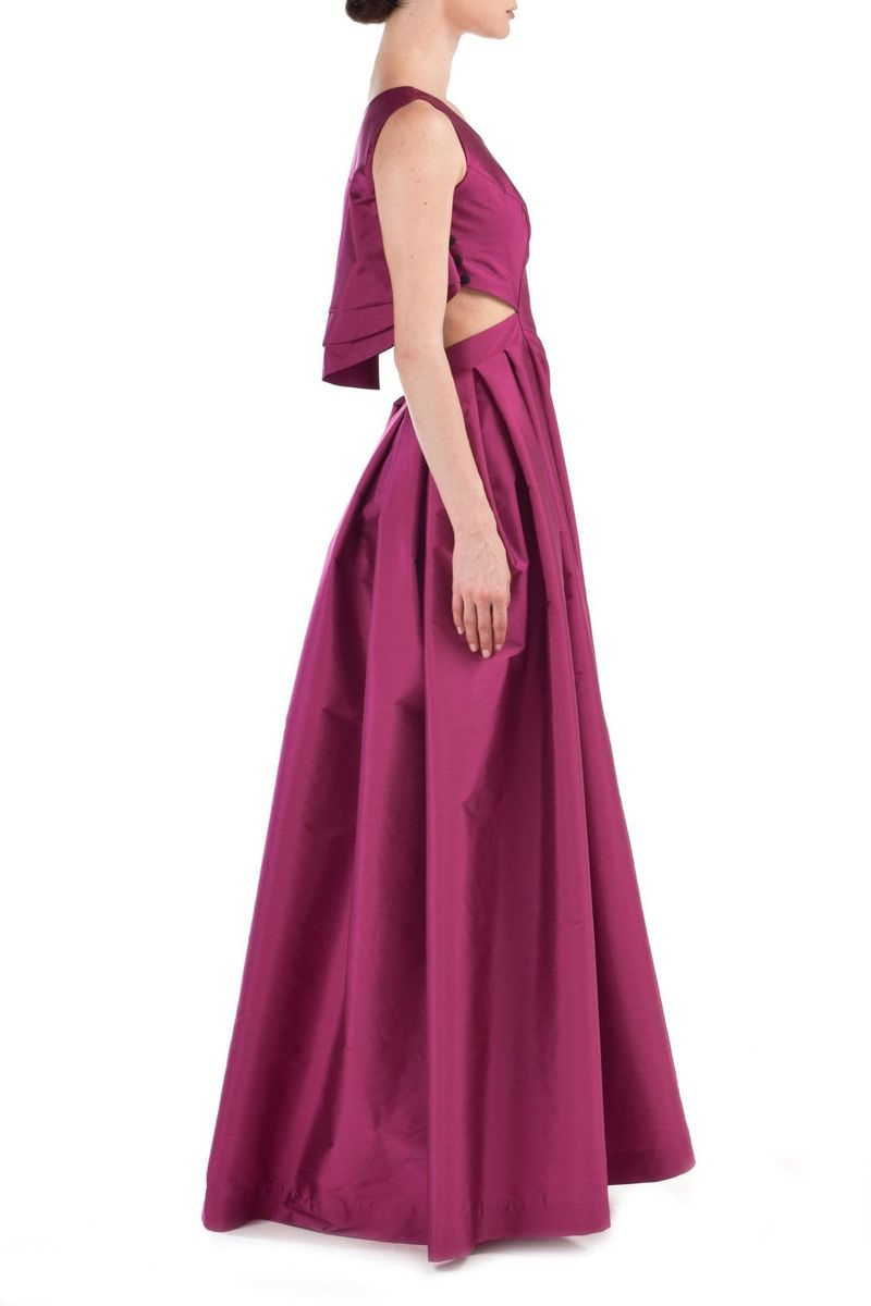 Pink Taffeta Gown - BYTRIBUTE