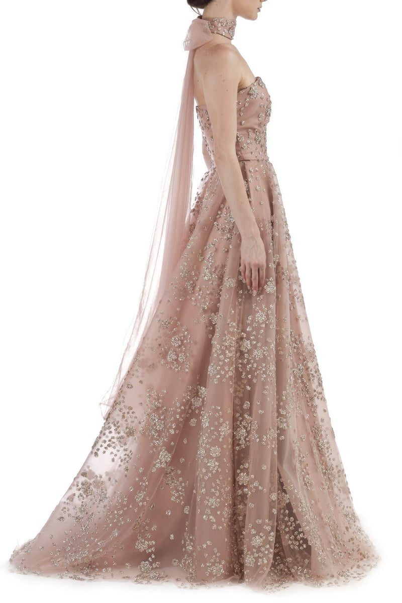Pink Sequins Gown - BYTRIBUTE