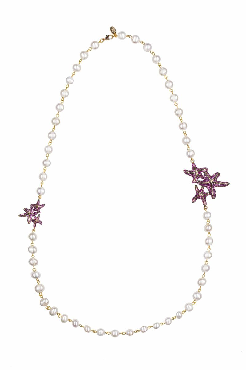 Asteroidea Ruby Pearl Necklace - BYTRIBUTE