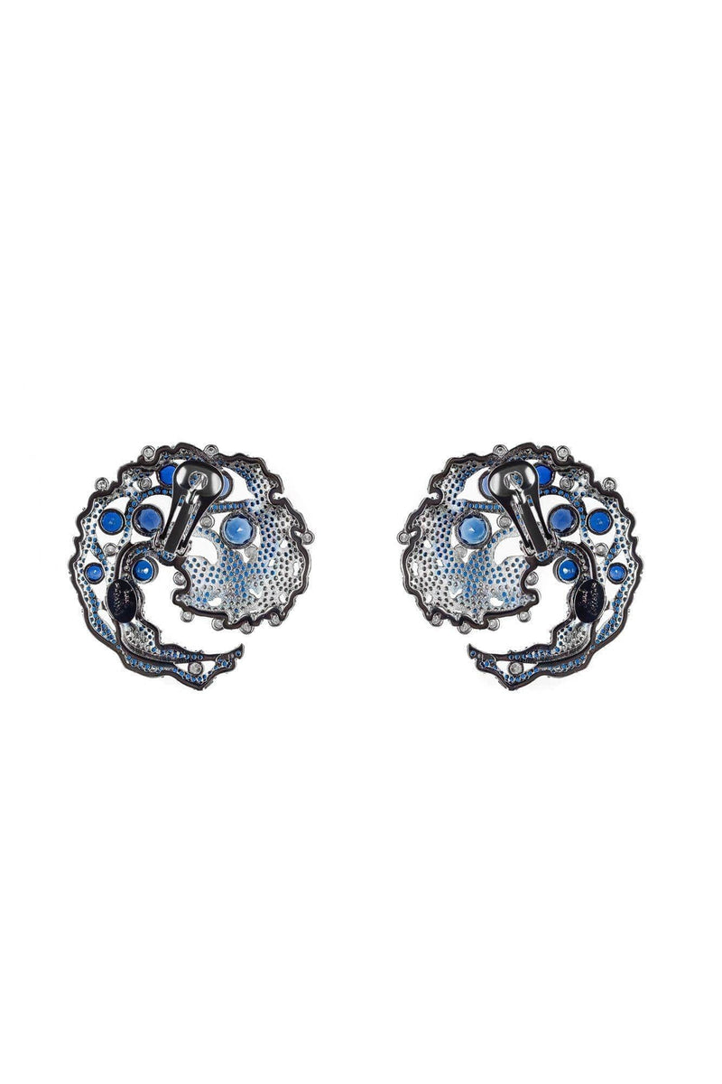 Caspia Navy Earrings - BYTRIBUTE