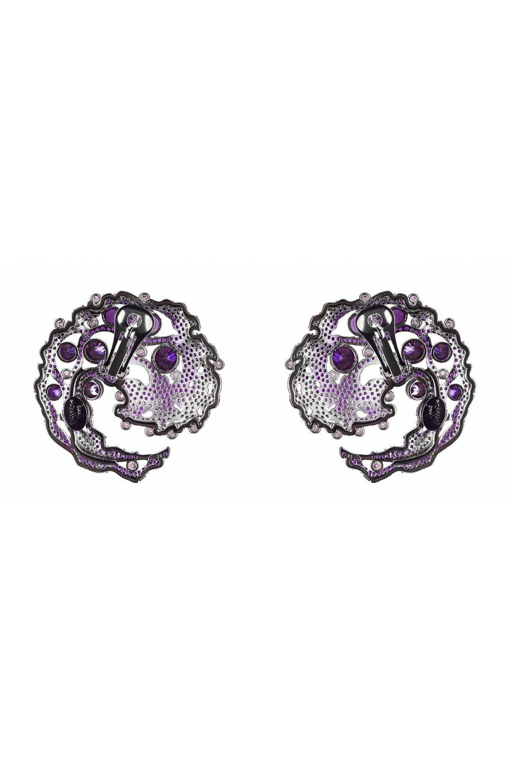 Caspia Amethyst Earrings - BYTRIBUTE