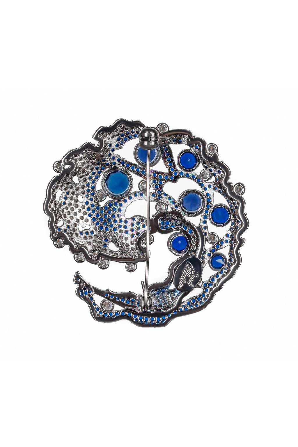 Caspia Navy Brooch - BYTRIBUTE