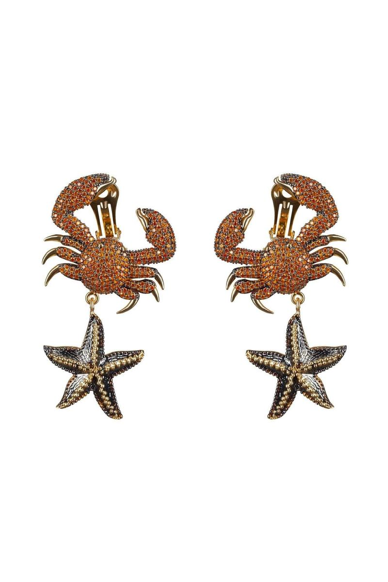 King Crab Tangerine Earrings - BYTRIBUTE