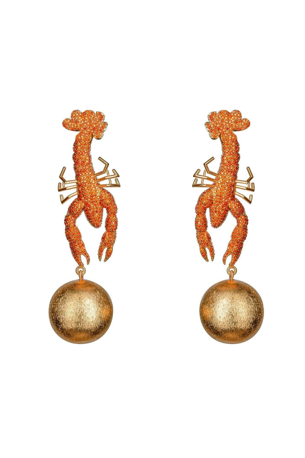 Scorpio Tangerine Earrings - BYTRIBUTE