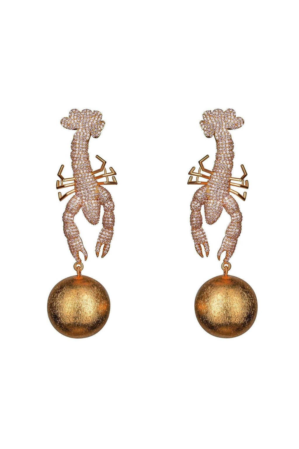 Scorpio Shell Pink Earrings - BYTRIBUTE