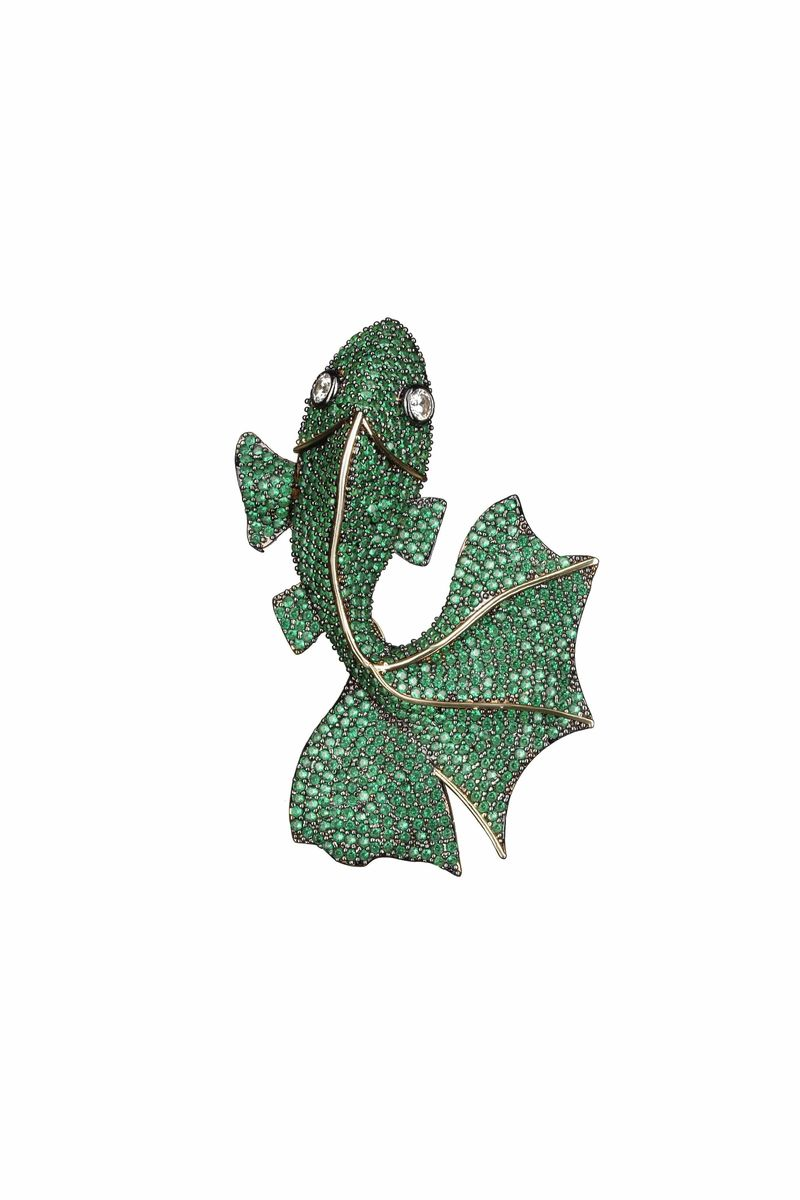 Emerald Green Goldfish Earrings - BYTRIBUTE