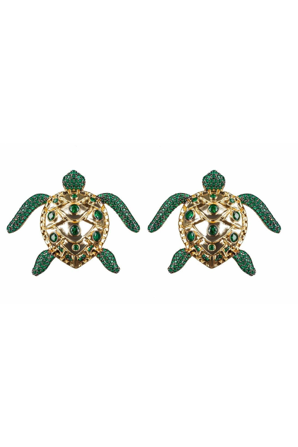Sea Turtle Emerald Green Earrings - BYTRIBUTE