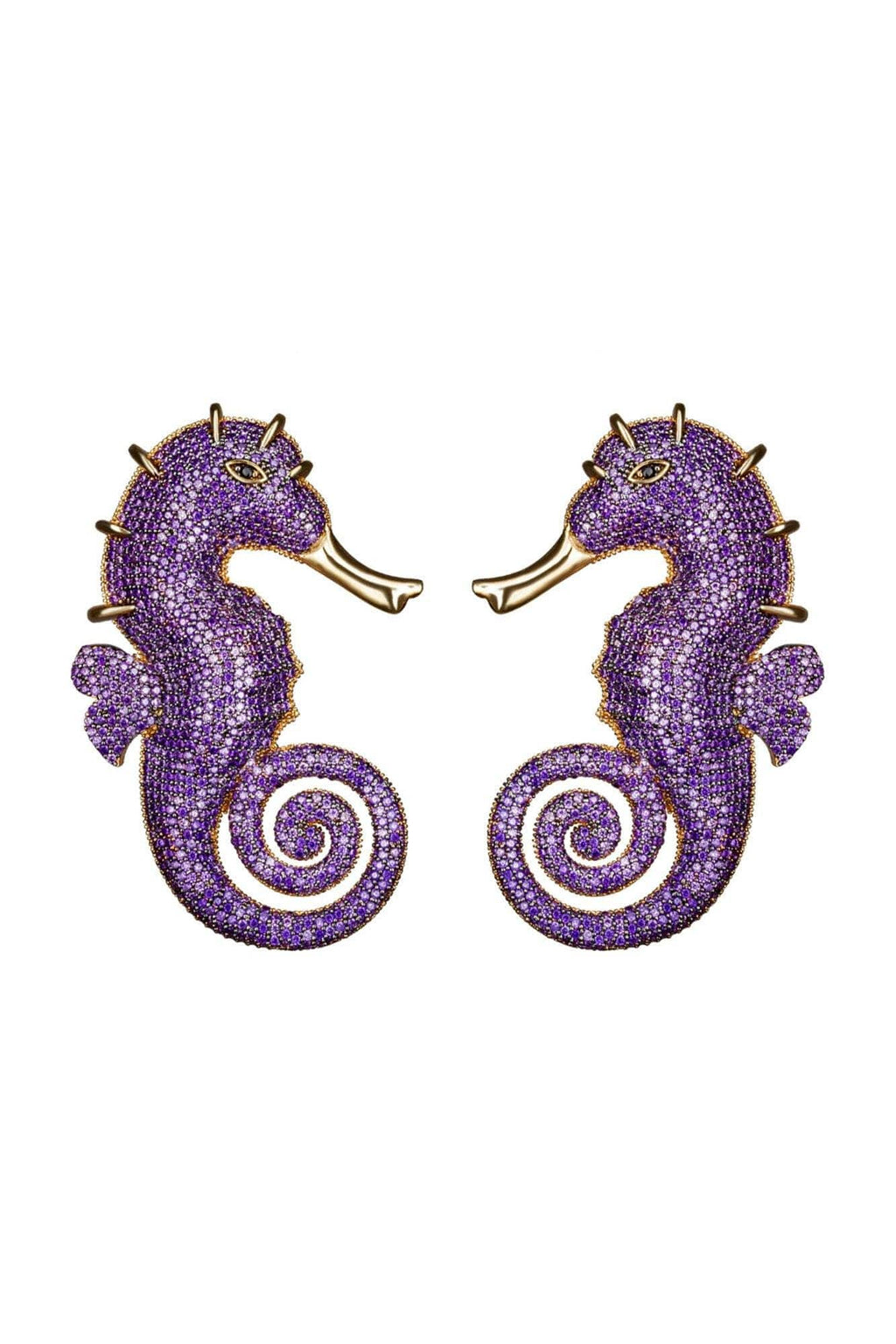 Seahorse Amethyst Earrings - BYTRIBUTE