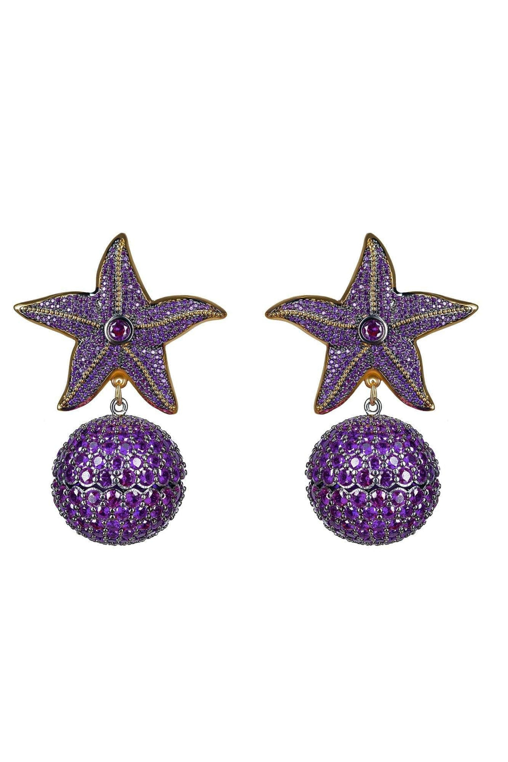 Starfish Amethyst Earrings - BYTRIBUTE
