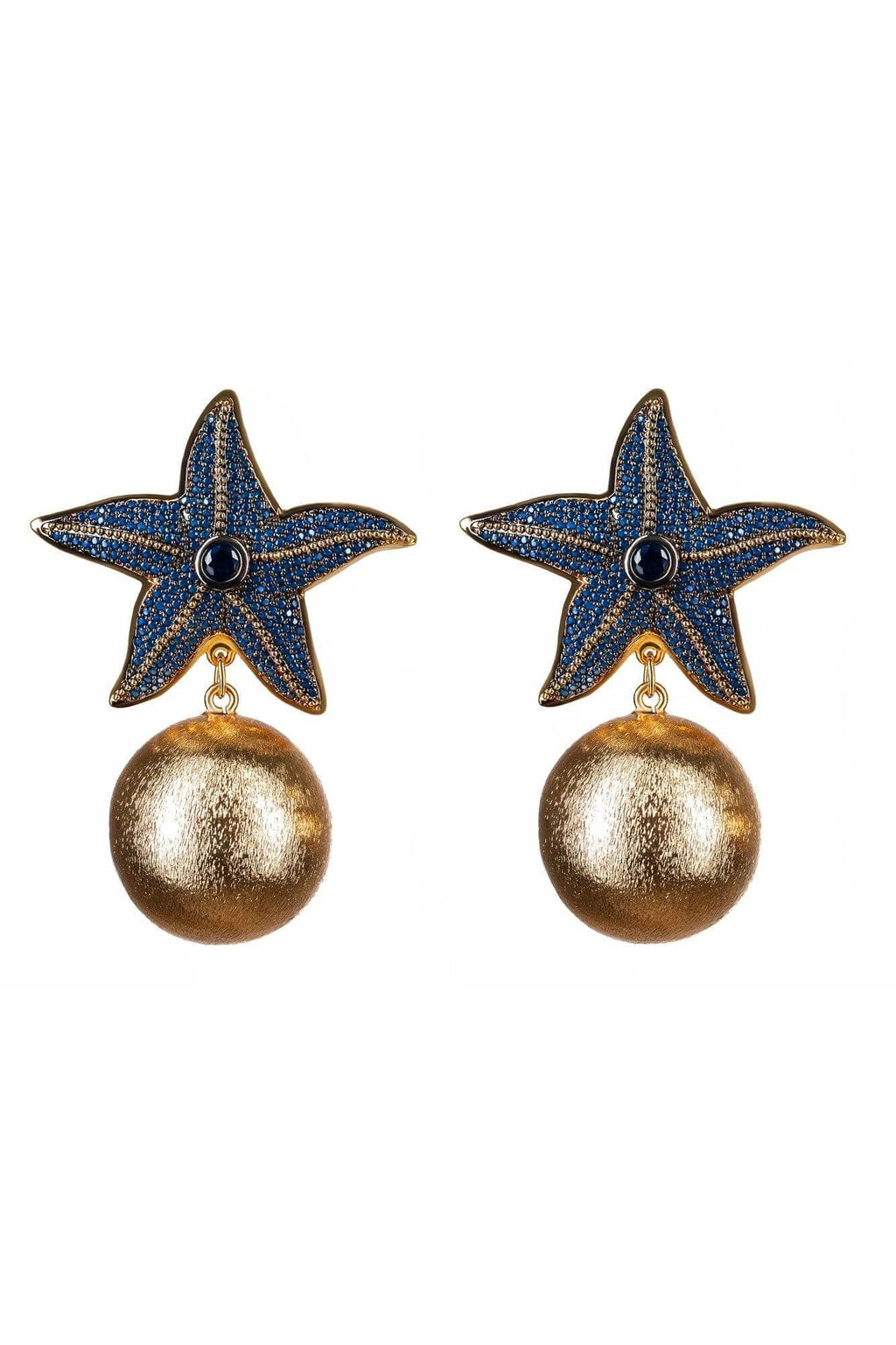 Navy Starfish Earrings - BYTRIBUTE
