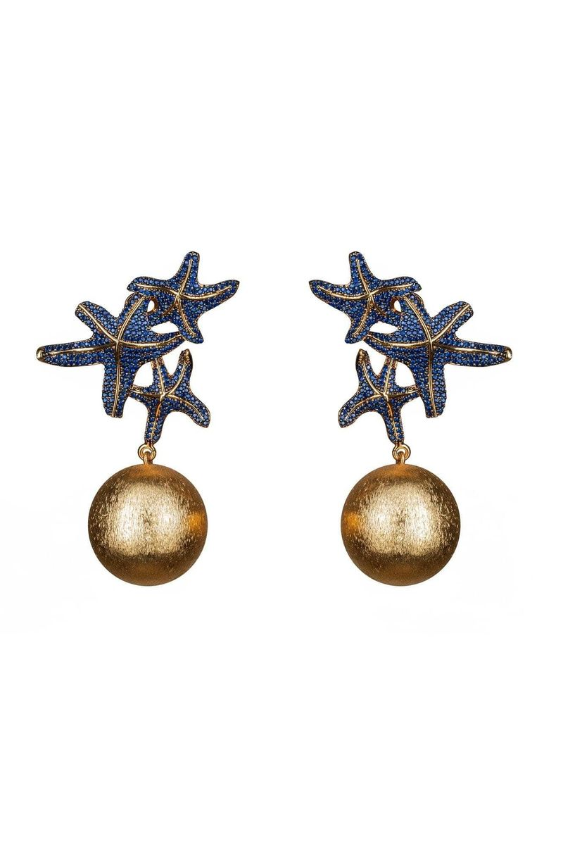Asteroidea Navy Earrings - BYTRIBUTE
