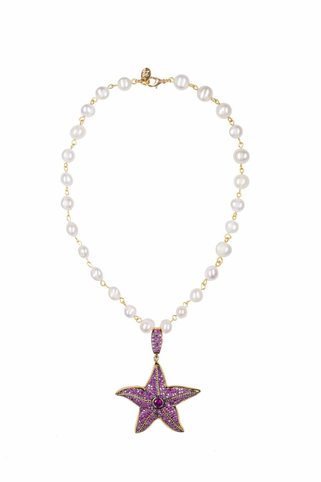 Starfish Ruby Pearl Necklace - BYTRIBUTE