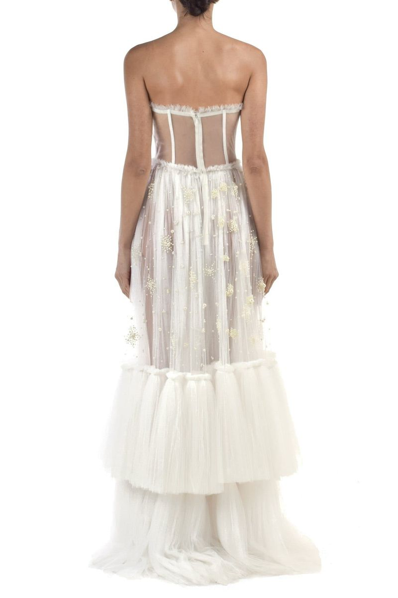 Tulle Corset Flared Panel Dress - BYTRIBUTE