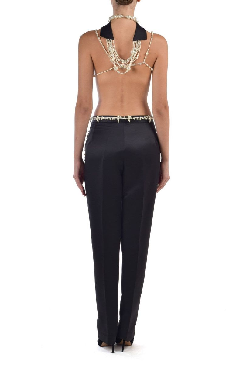 Low Waist Satin Pants - BYTRIBUTE