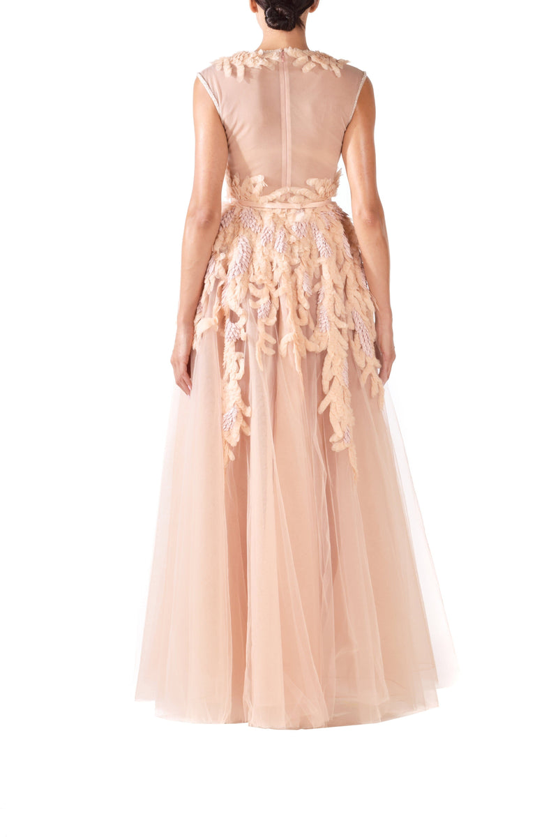 Peach Tulle Ball Gown - BYTRIBUTE
