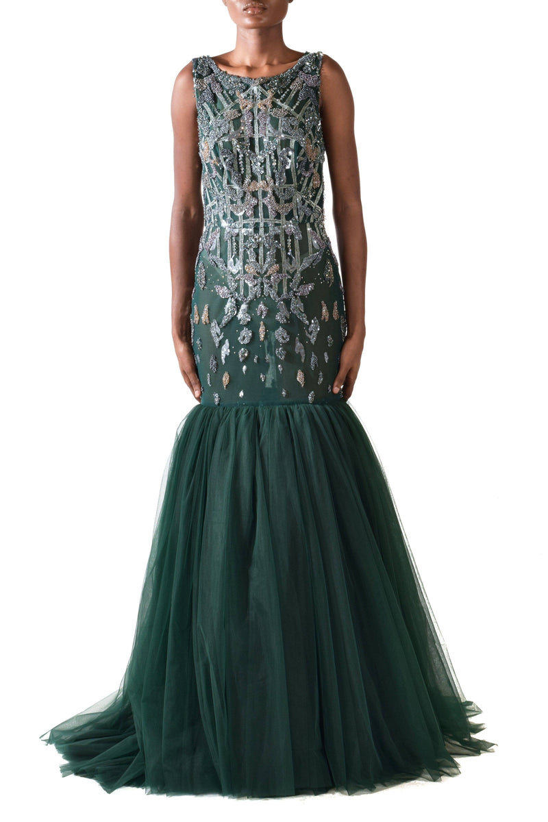Sacramento Green Evening Gown - BYTRIBUTE