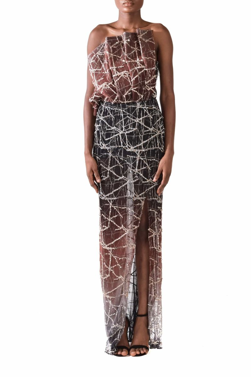 Marsala Brown Evening Gown - BYTRIBUTE