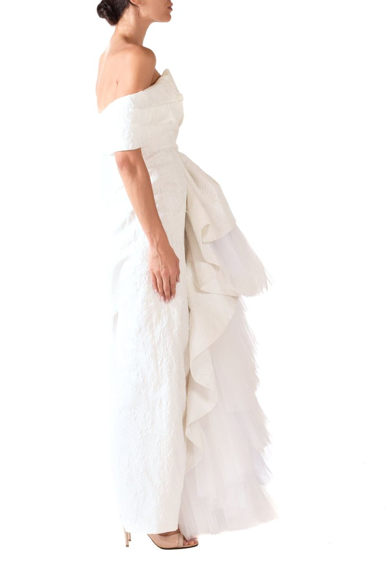 Daisy White Flora Bridal Gown - BYTRIBUTE
