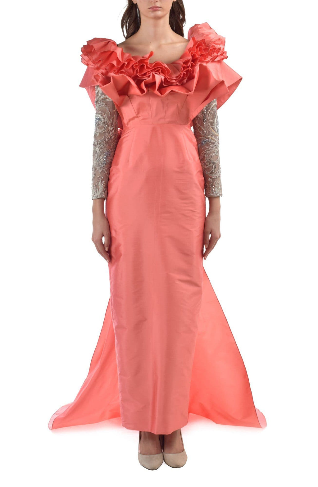 Rainforest Rubberband Pink Emboridered Dress - BYTRIBUTE