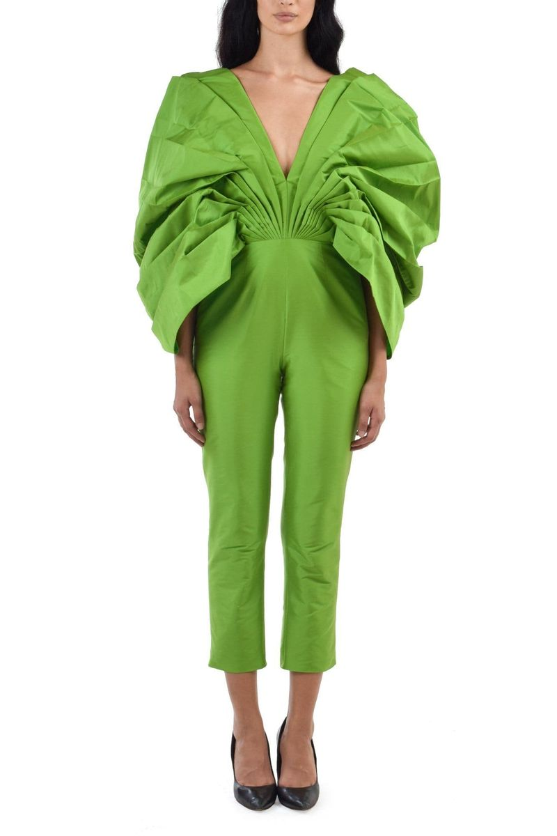 Ravenala Lizard Green Jumpsuit - BYTRIBUTE