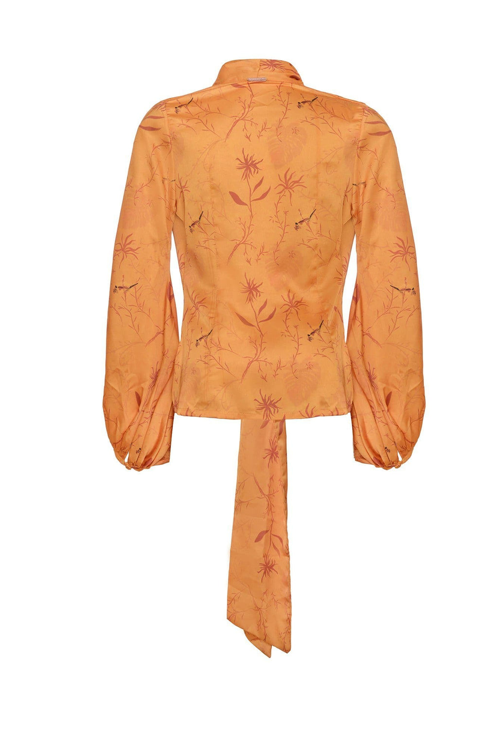 Orange Carlota Blouse - BYTRIBUTE