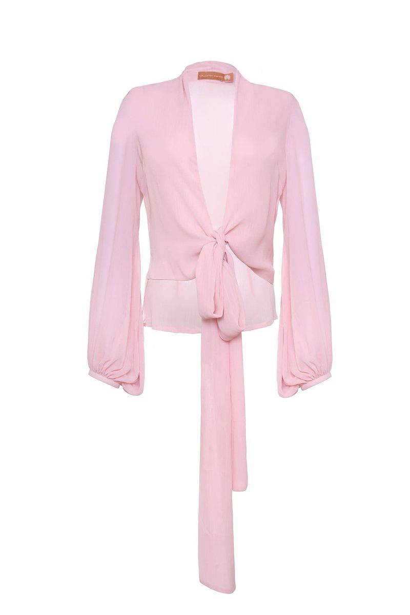 Pink Carlota Blouse - BYTRIBUTE