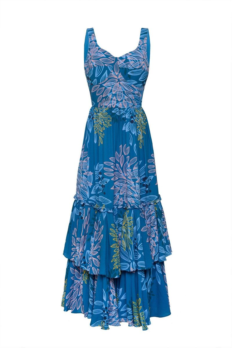 Blue Linate Dress - BYTRIBUTE