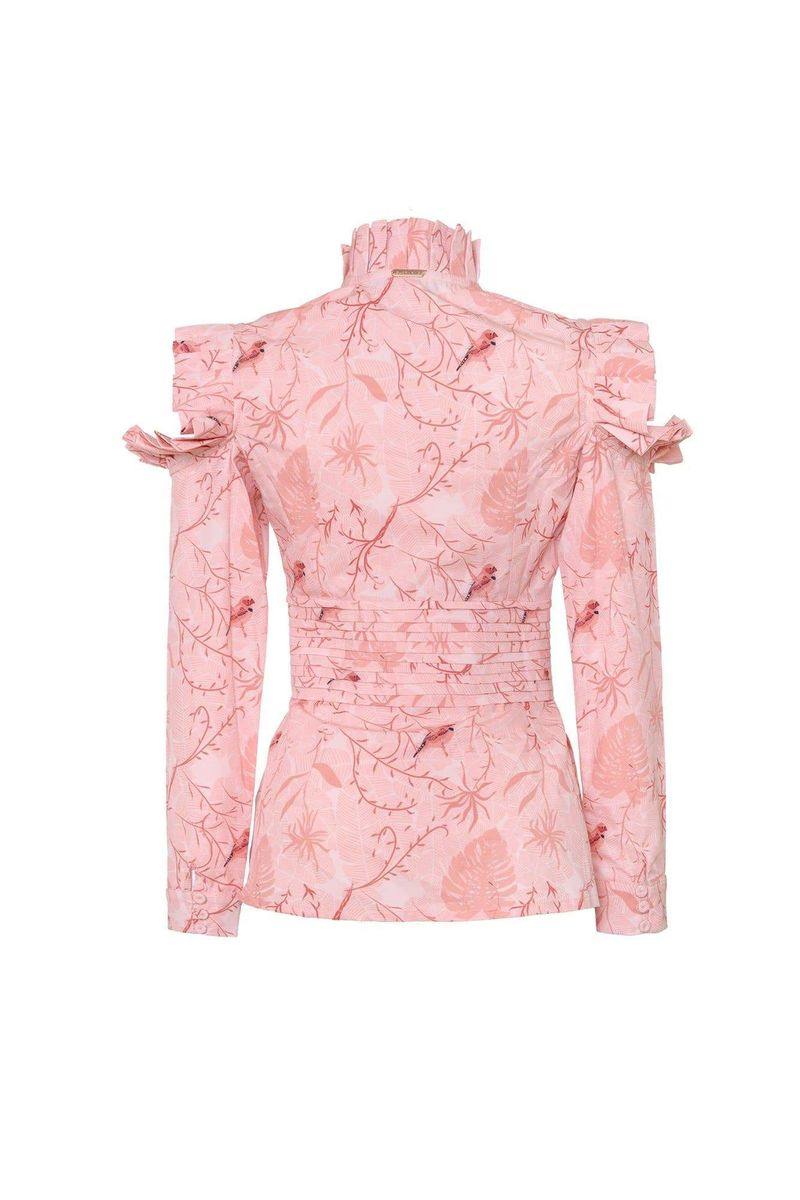 Pink Bird Ibis Blouse - BYTRIBUTE