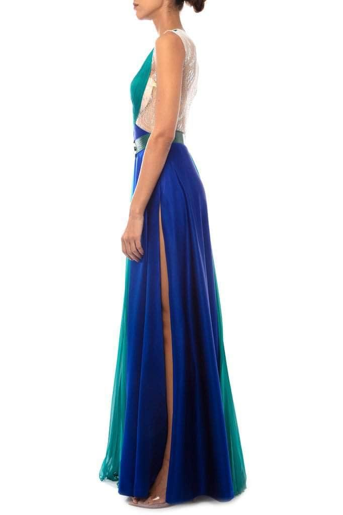 Emerald & Blue Long Dress