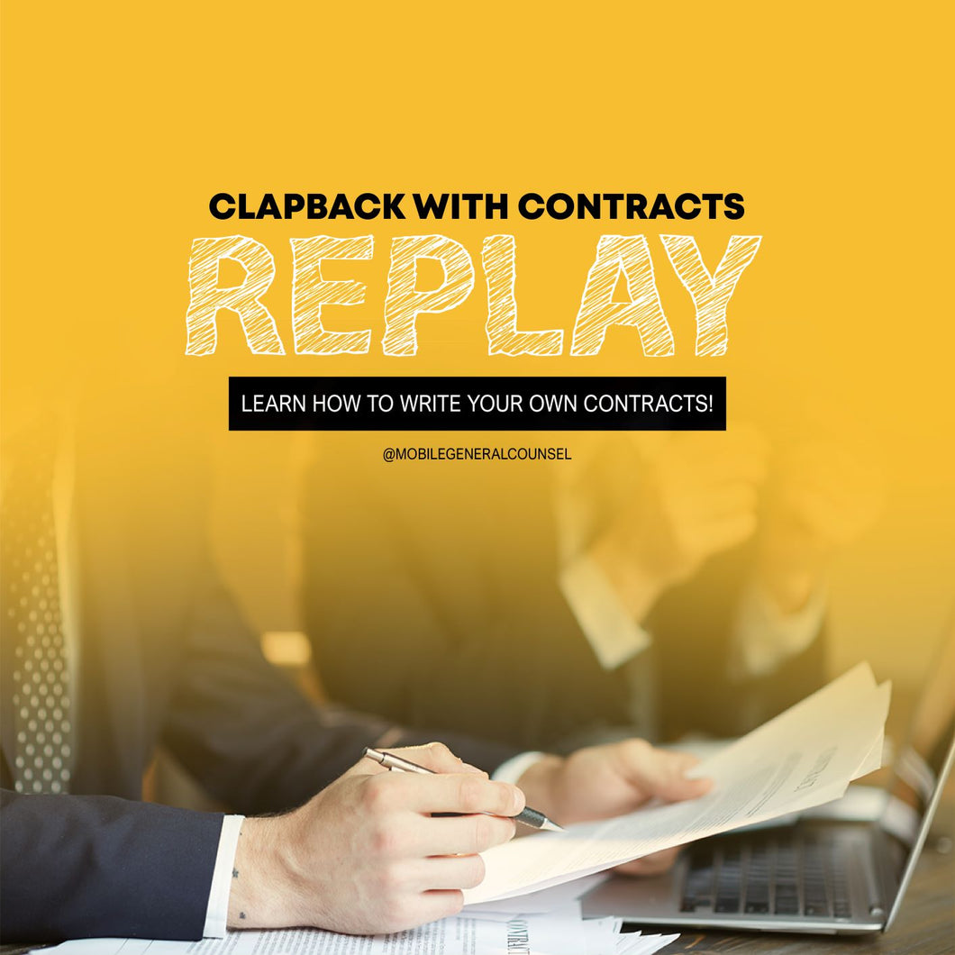 Clapback with Contracts (Replay)