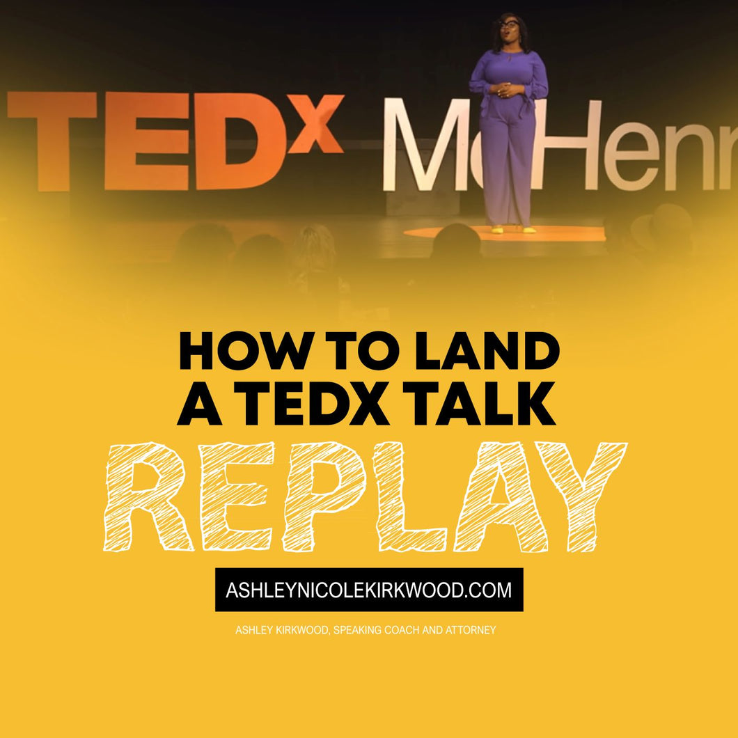 How To Land A TEDx Talk
