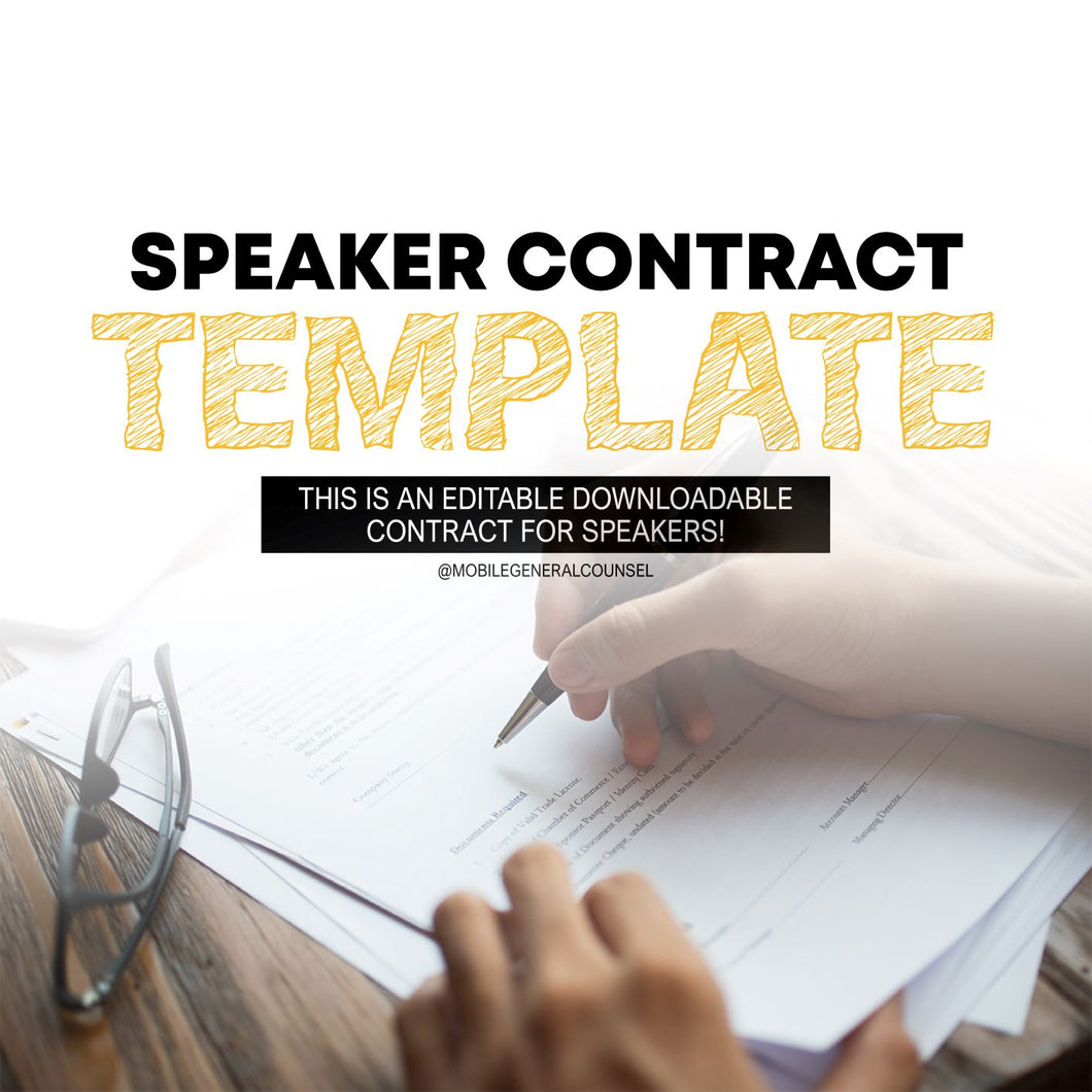 Speaker Contract Template