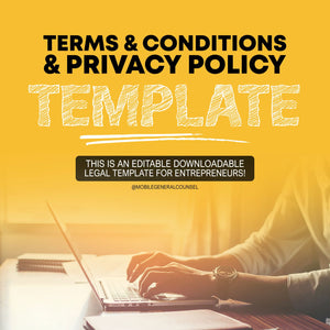 Terms & Conditions & Privacy Template