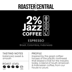 2% Jazz Coffee – Espresso (340g)