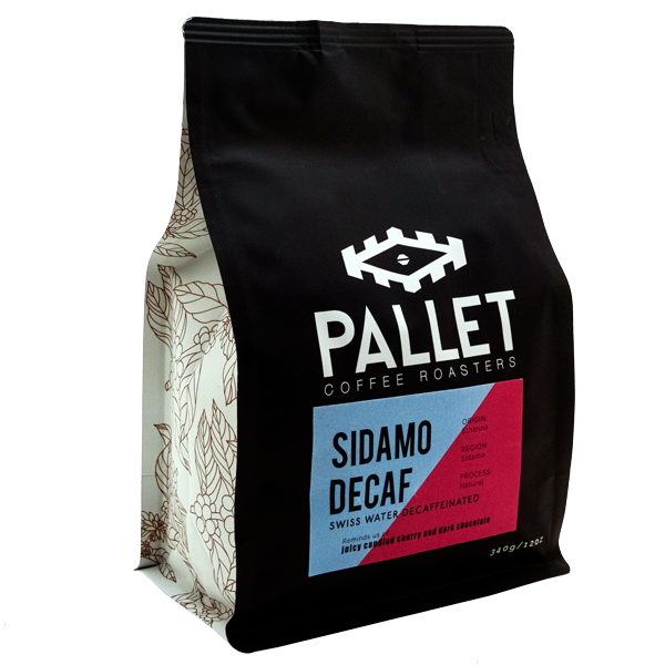 Pallet Coffee Roasters – Sidamo Swiss Water Decaf (340g)
