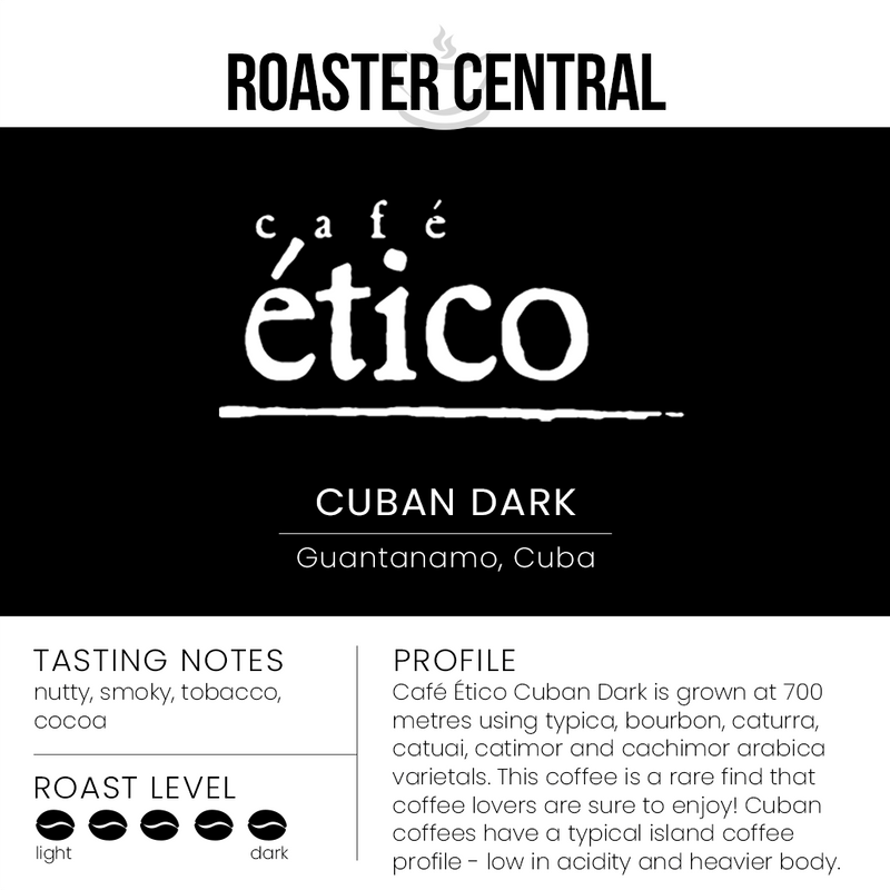 Café Ético - Cuban Dark - Tasting Notes