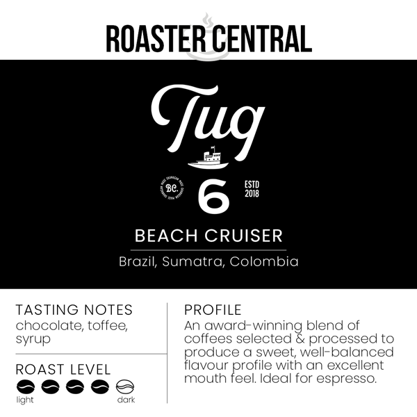 Tug 6 Coffee Roasters - Beach Cruiser Espresso - Tasting Notes