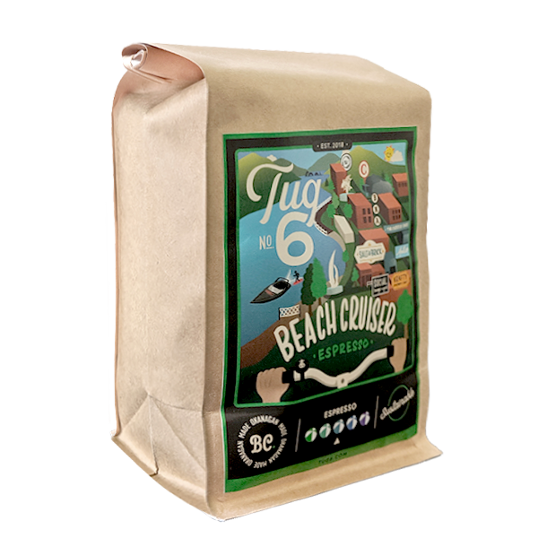 Tug 6 Coffee Roasters – Beach Cruiser Espresso (454g)