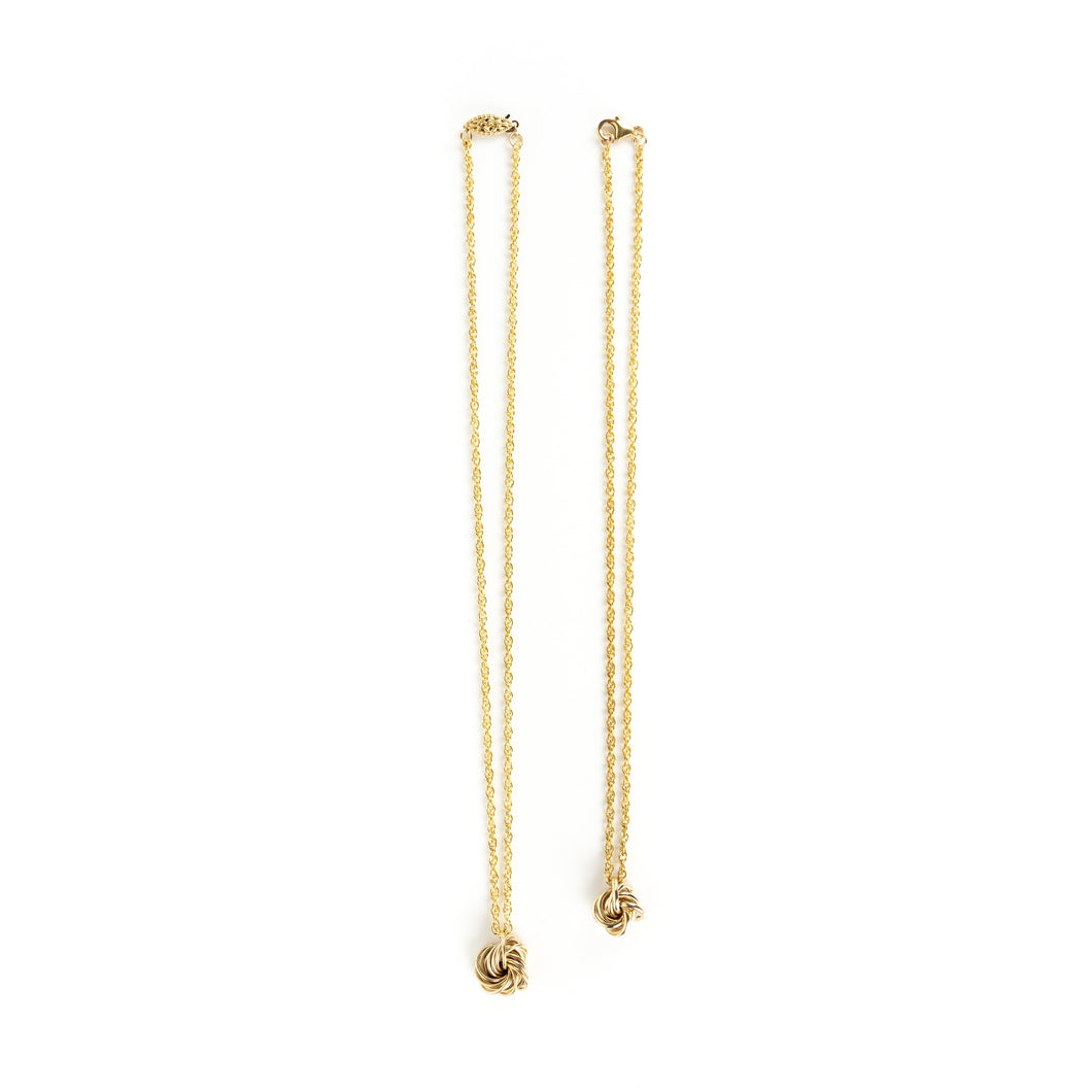 Larry Rosen Gold Knot Necklace