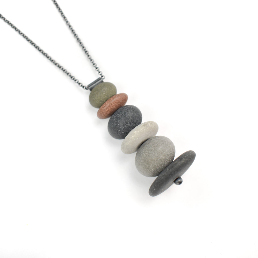 Jennifer Nunnelee Stack Stone Necklace