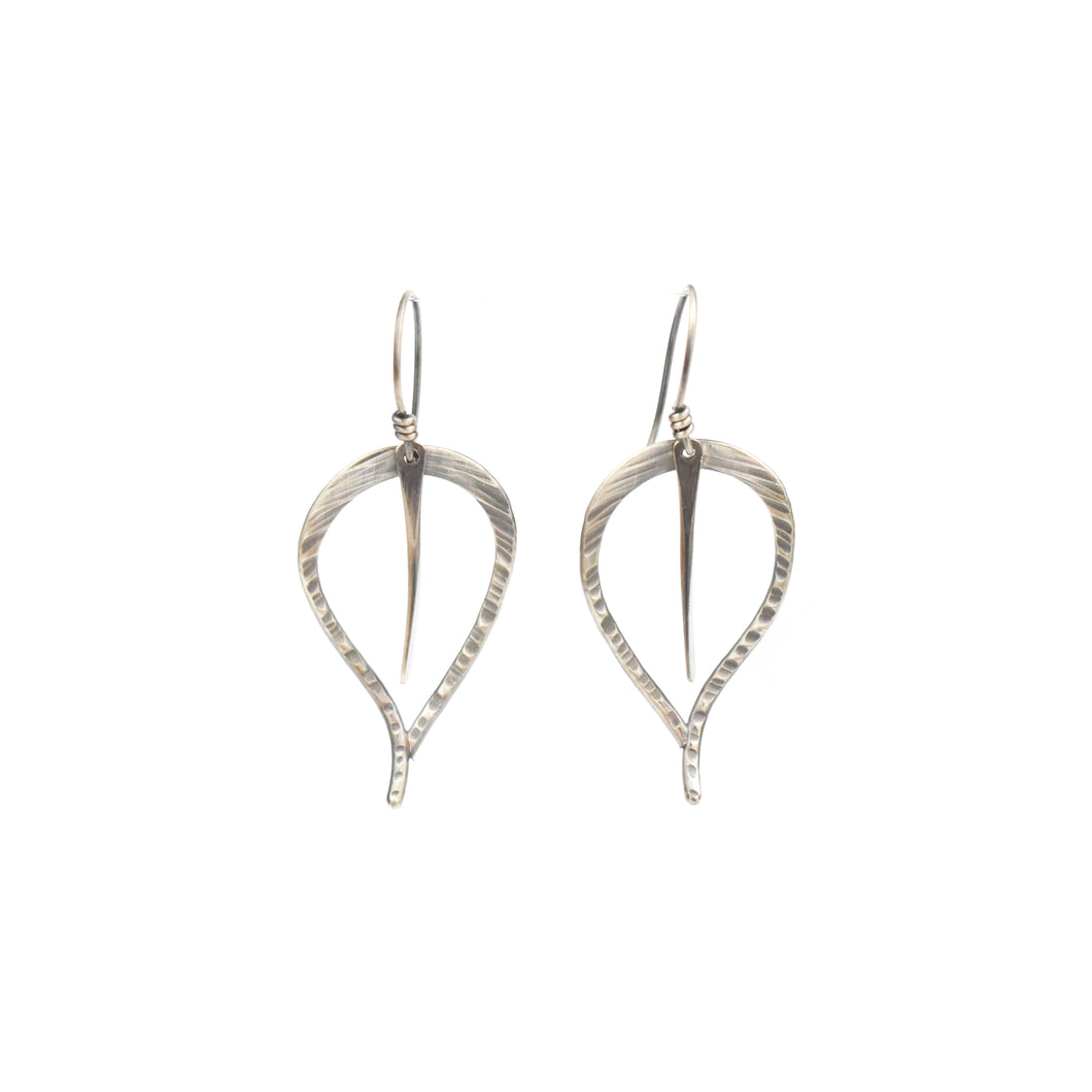 Aileen Lampman Open Leaf Earrings
