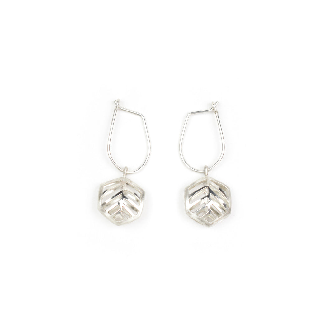 Stacy Rodgers Mea Bright Single Hex Drop Earrings