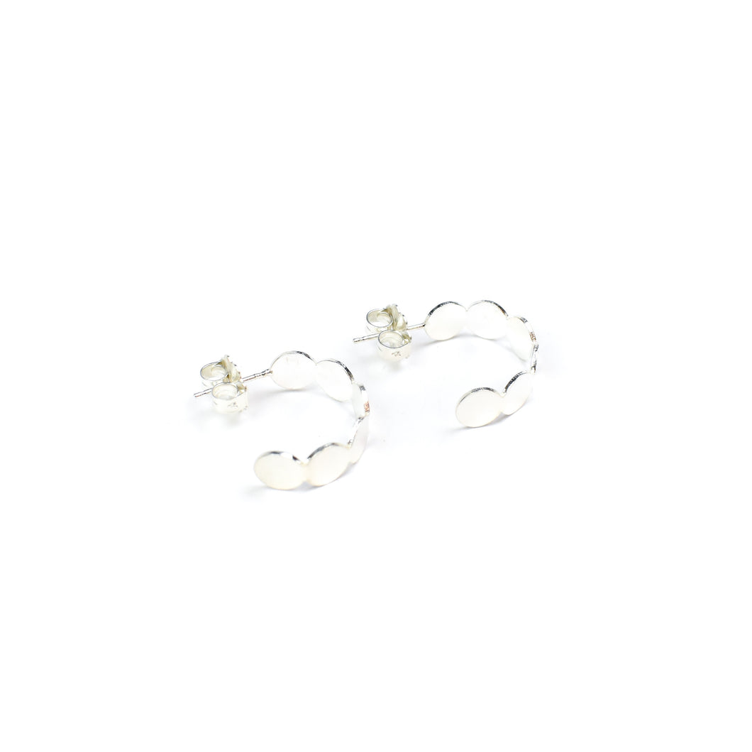 Tegan Wallace Small Beaded Hoop Earrings