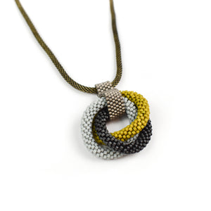 Olga Mihaylova Triple Circle Pendant Necklace